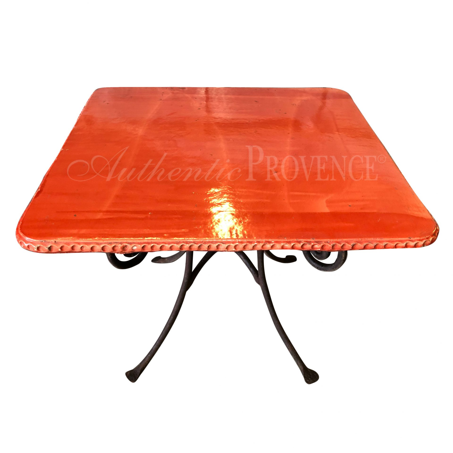 Classique Square Table Red | Imported Garden Benches