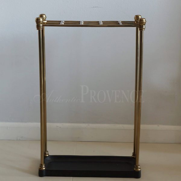 Umbrella stand made of cast iron and brass