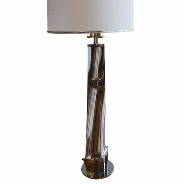 chrome florentine table lamp