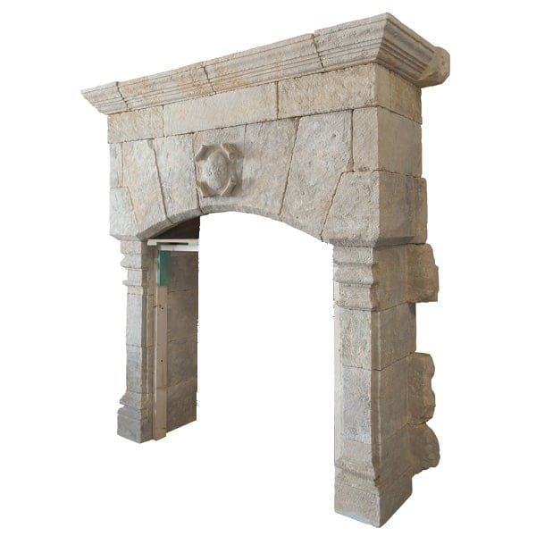 Monumental French Fireplace