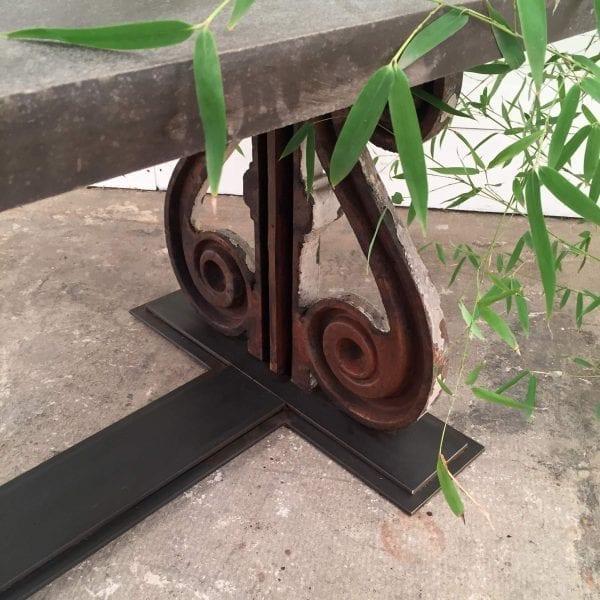 rare belgian marble garden table