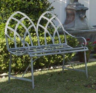Galvanized Iron Gothic Bench Authentic Provence