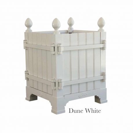 authentic french versailles planter box - color: dune white