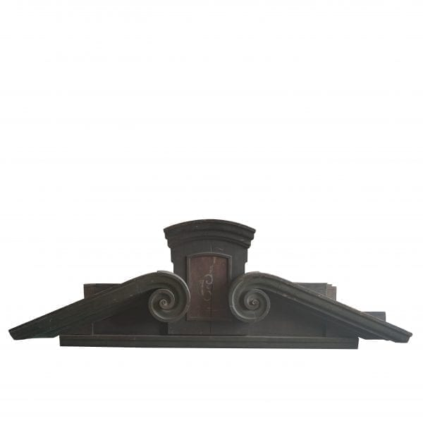 19th century French monumental wooden sopra porta