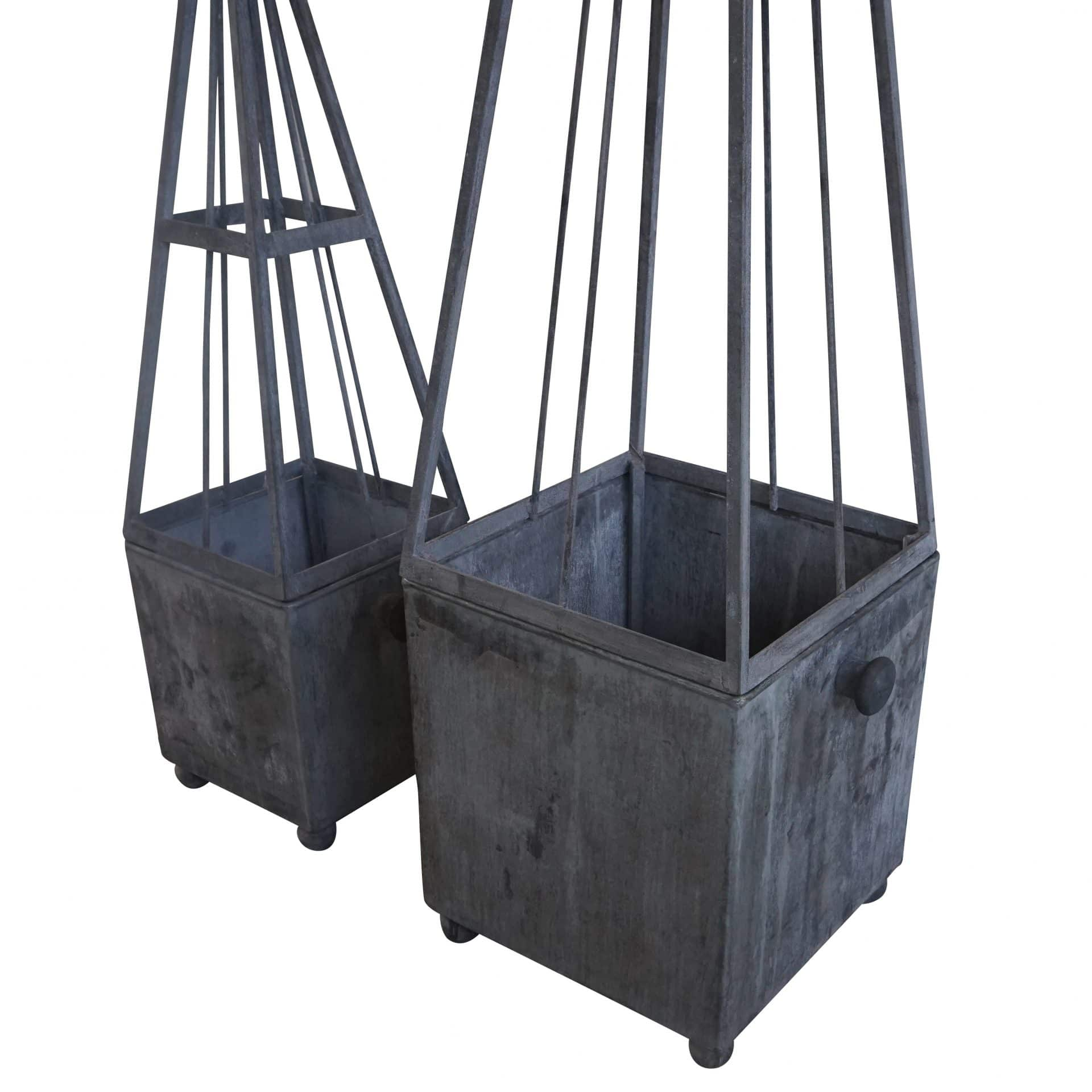 Metal Obelisk Planter