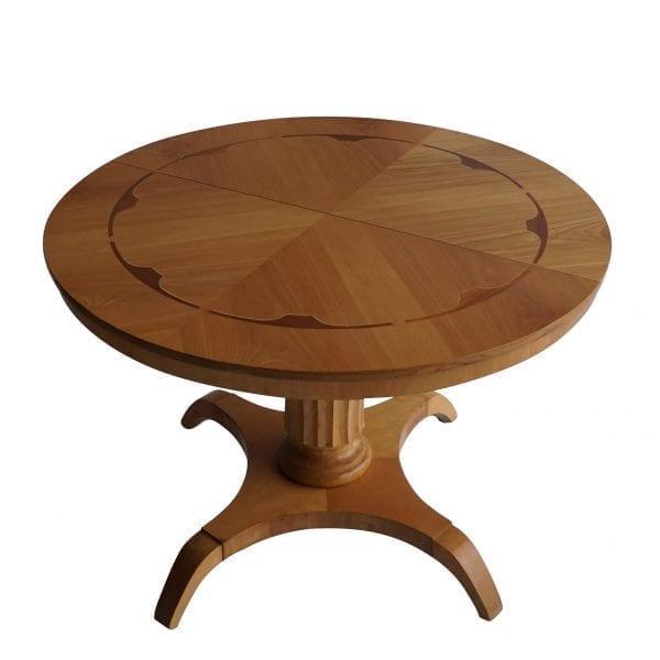 birchwood round pedestal table