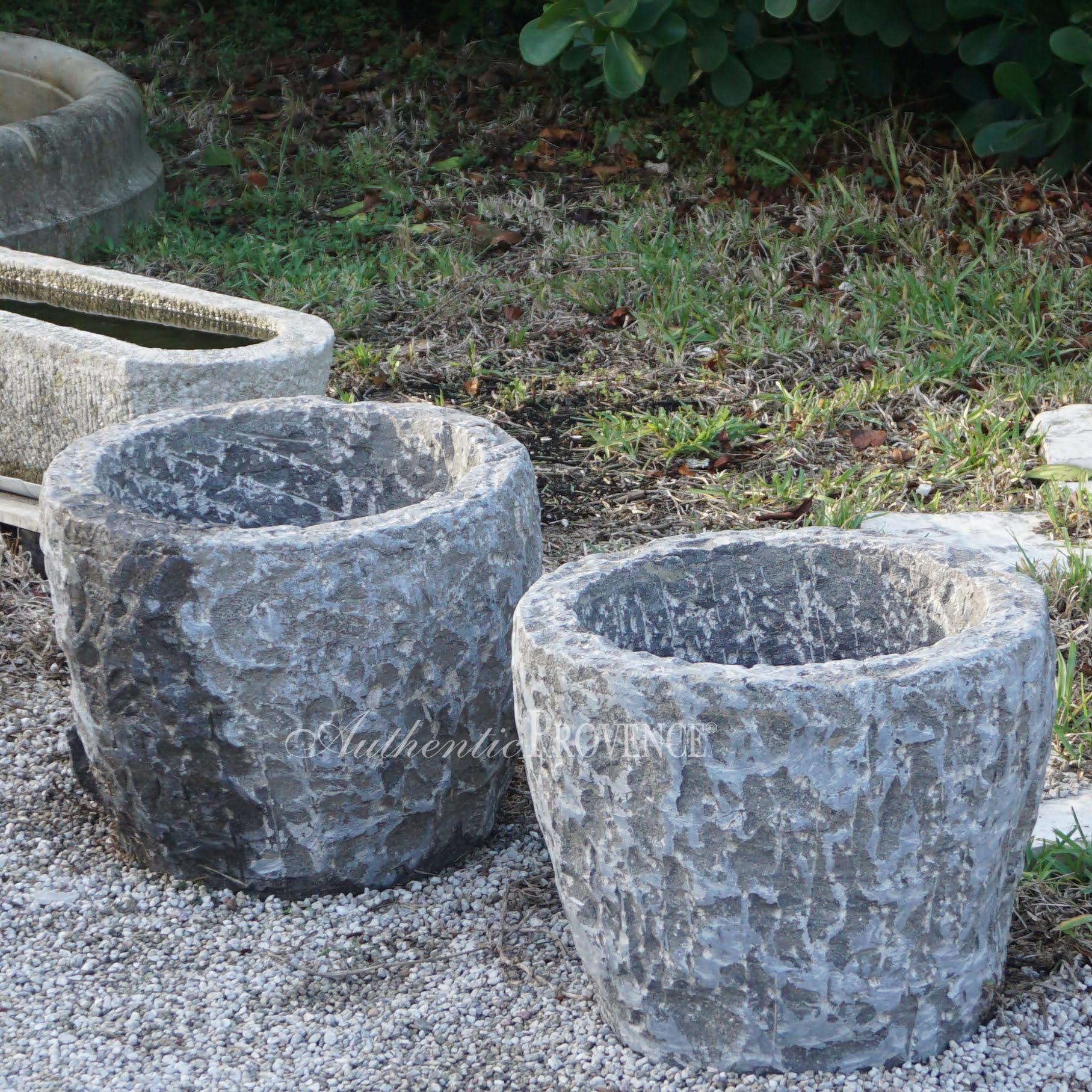Pair of Antique Granite Tubs