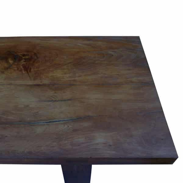 Overhead view French conference table made of walnut
