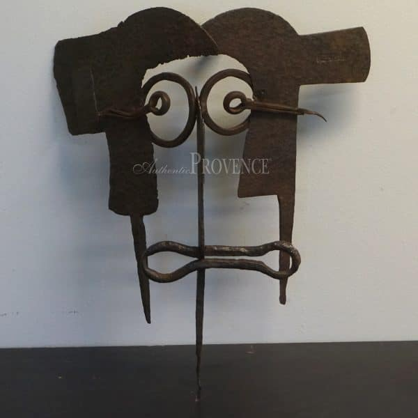 Mid Century handmade Brutalist sculpture influenced by Pablo Picasso.
