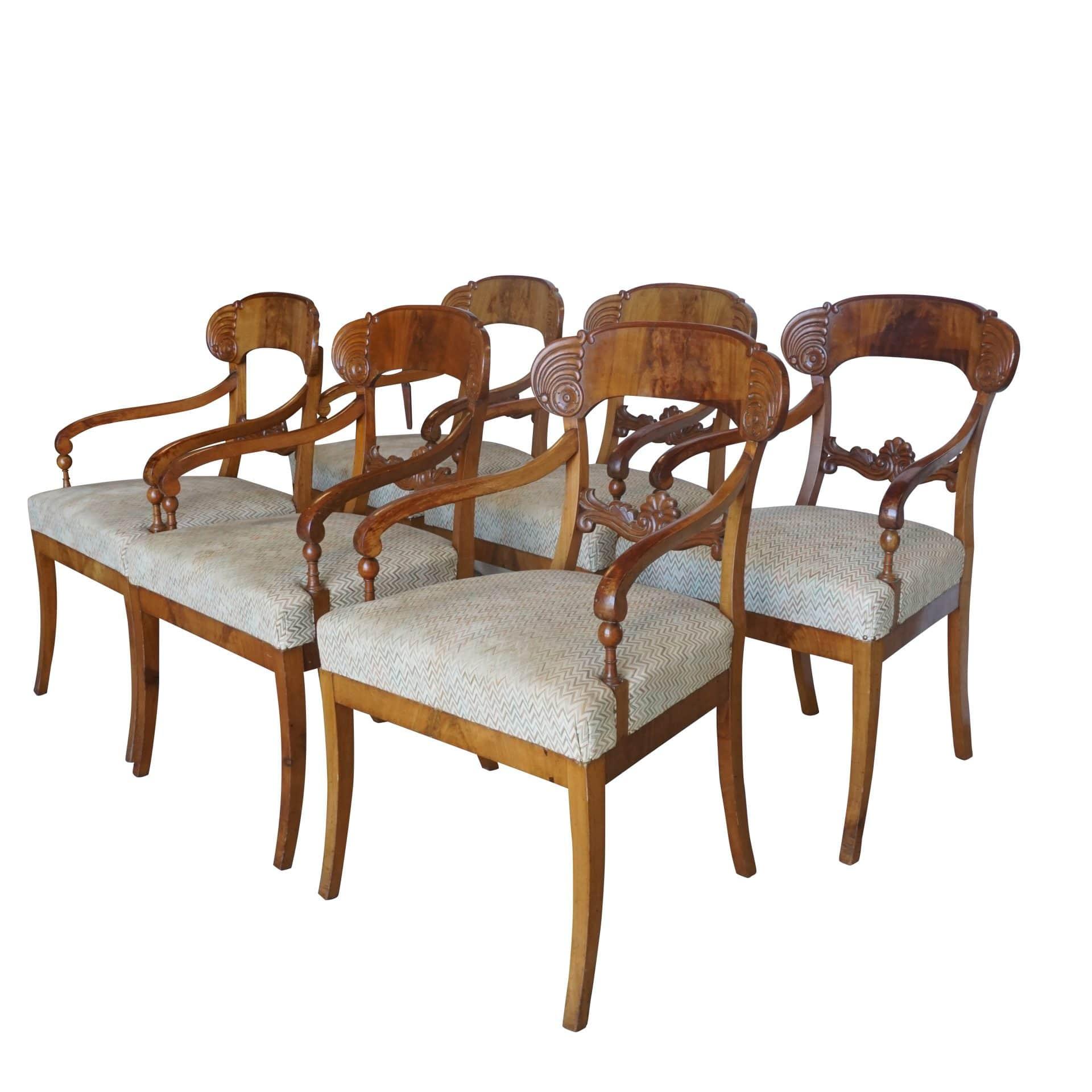 Set of Six Armchairs by Karl Johan
