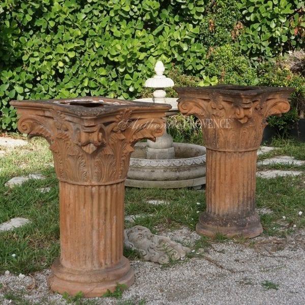 terra cotta antique tuscan columns