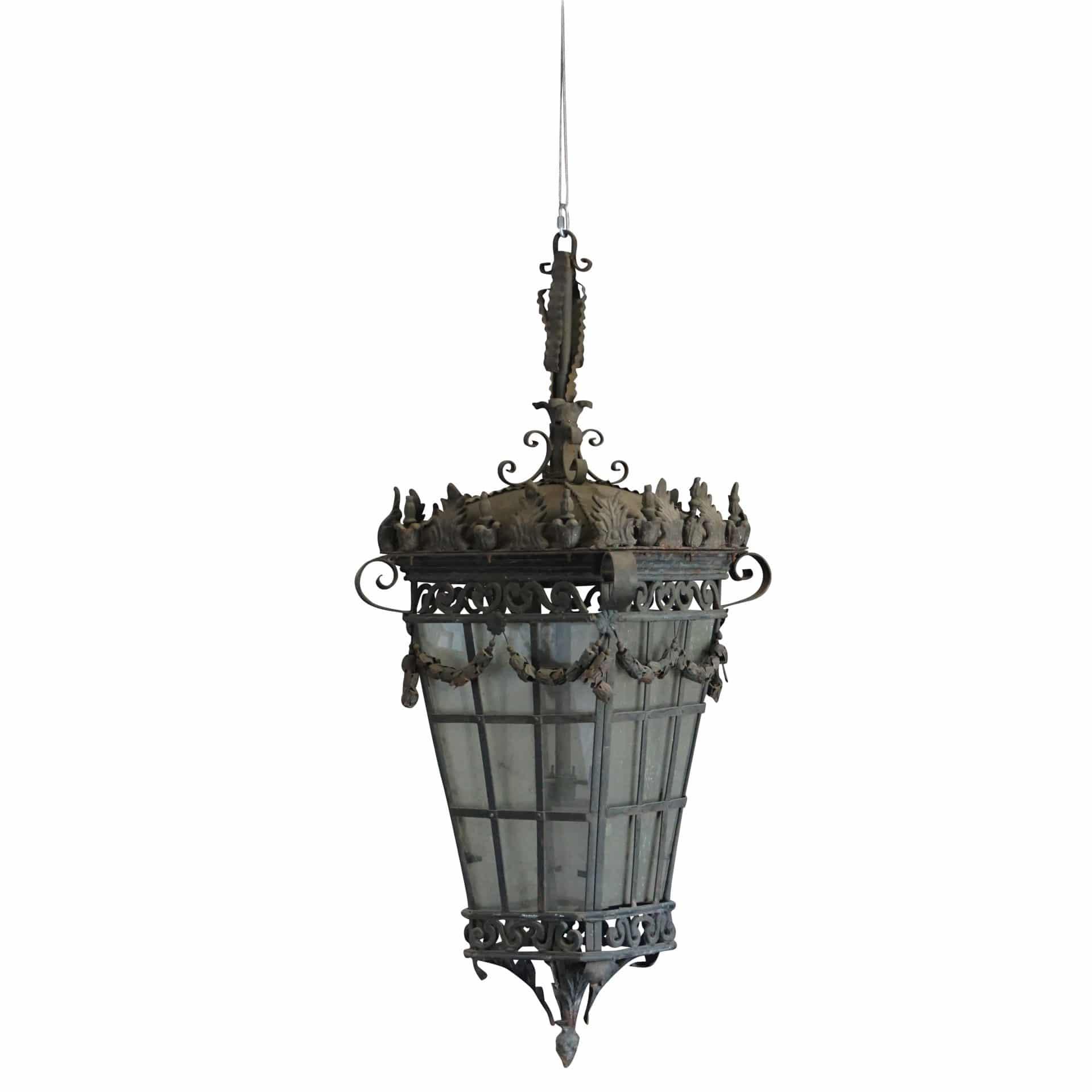 Pair of Monumental Parisian Lanterns