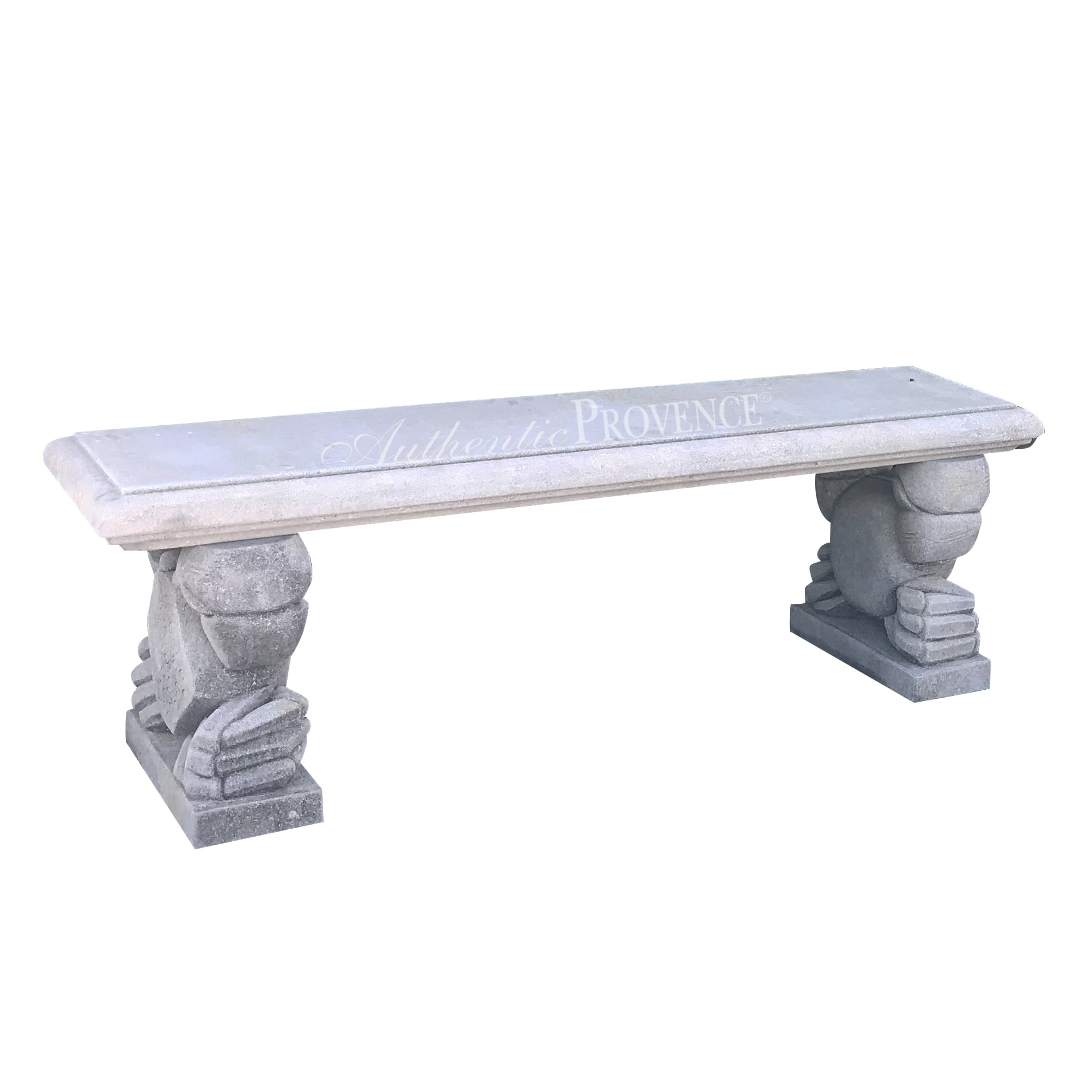 Unique Pair of Limestone Benches
