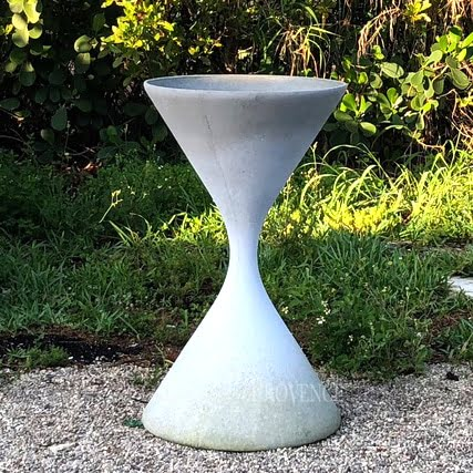 Hourglass Shaped Planter By Willy Guhl