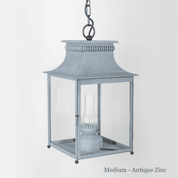French Carriage Pendant in Antique Zinc