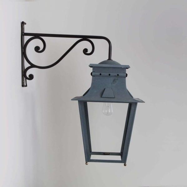 Solange Wall Lantern in Antique Zinc Finish
