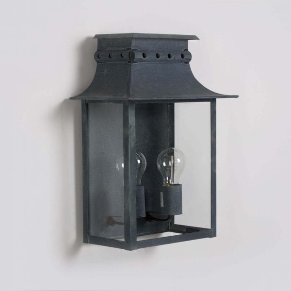 Inspired from the 19th Century this beautiful wall mounted lantern holds two light bulbs.
