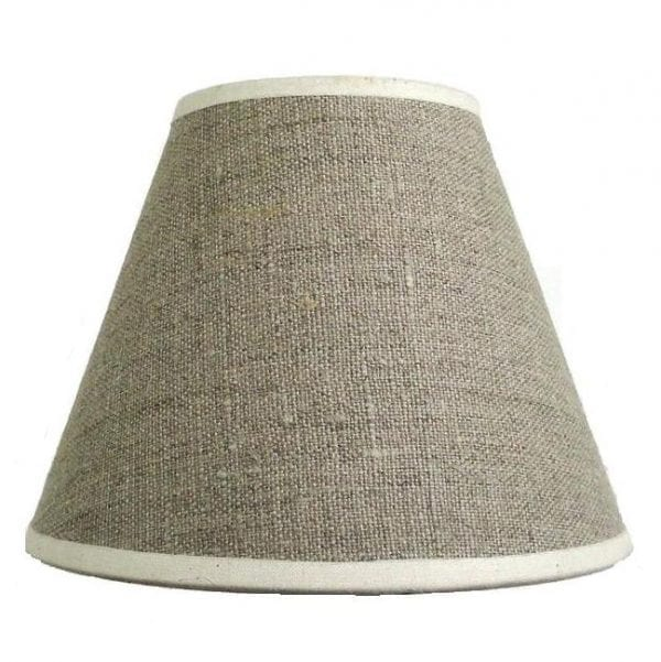 Lampshade linen with clips from France