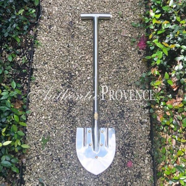 Short shovel made of Inox / stainless steel