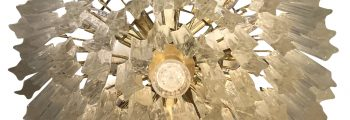 Glass Tiered Chandelier by Paolo Venini