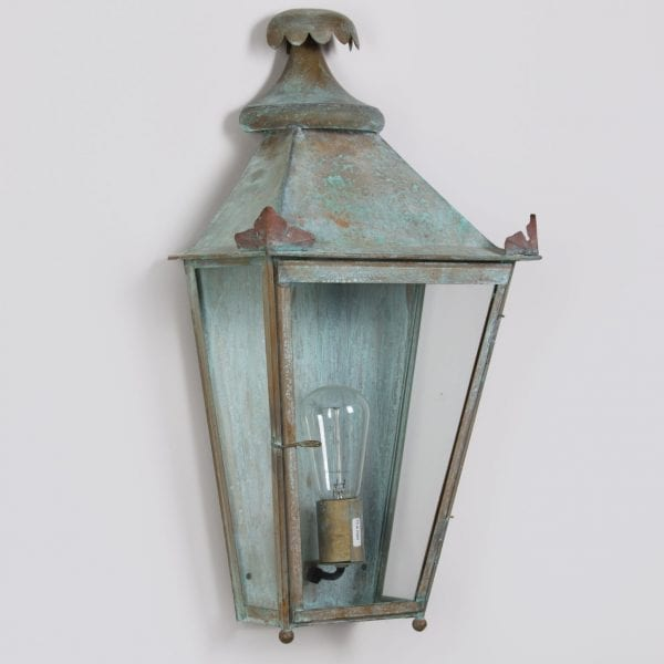 Classical French wall mounted lantern inspired by the 19th Century and handmade in metal
