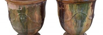 Pair of 1900 French Anduze Urns